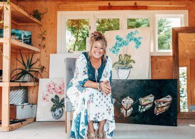 L'artiste-peintre Mélanie Gagnon