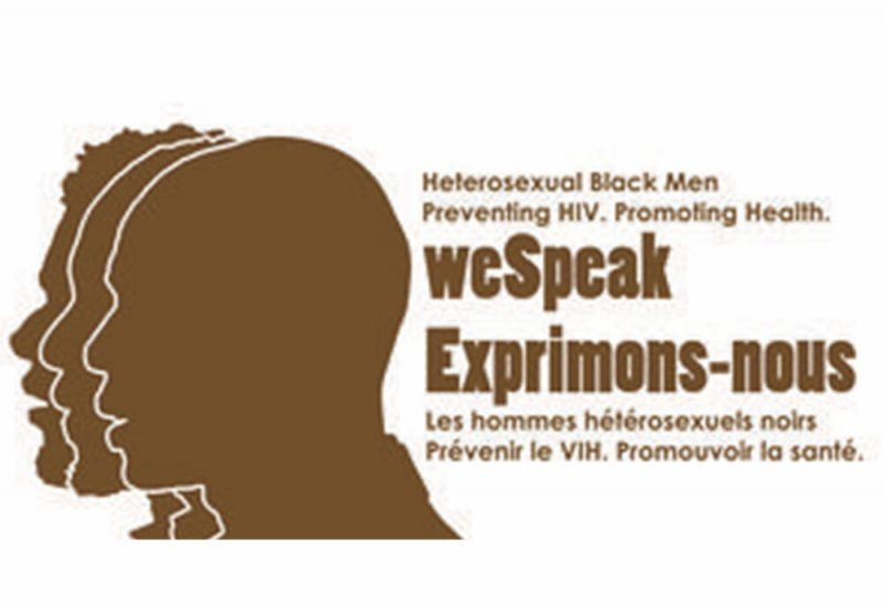 The logo of the WeSPeak research project. It features a brown outline of three black men.