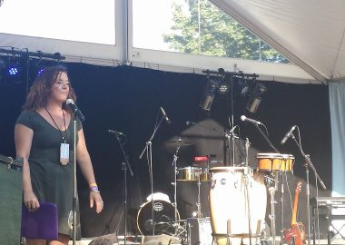picture of Michelle Demers-Shaevitz from the Mission Folk Music Festival Facebook page.