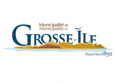 A photo of the logo of the municipality of Gross Ile.
