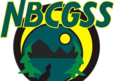 Yellow and green logo for the NBCGSS