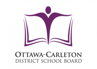 The purple and white Ottawa-Carleton District School Board logo