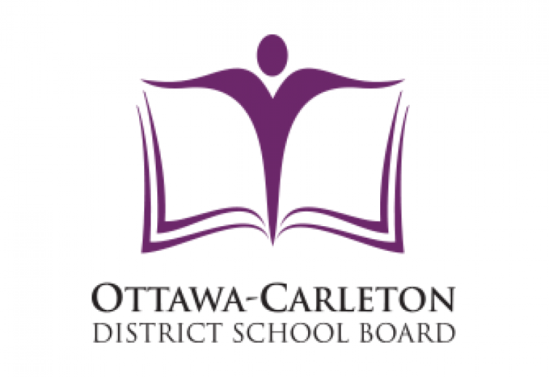 The purple and white Ottawa-Carleton District School Board logo