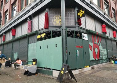 Overdose Prevention Site's new indoor location at the corner of East Hastings and Columbia streets