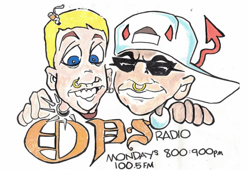 Caricature of Trey Helten and Smokey Devil