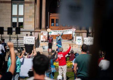 Une grève pour le climat très suivie à Halifax. Photo : Valentin Alfano