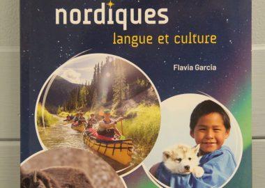 La couverture du nouveau manuel d'exercice Rendez-vous nordiques, pour l'apprentissage du français langue seconde.