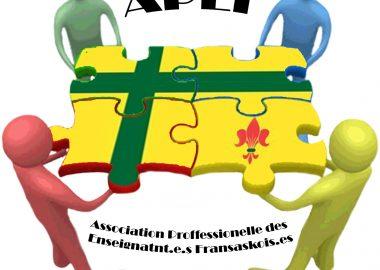 Logo de l'Association professionnelle des enseignants fransaskois. Photo: page Facebook APEF