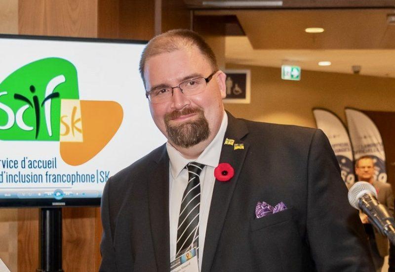 Denis Simard, président de l'Assemblée communautaire fransaskoise(ACF)