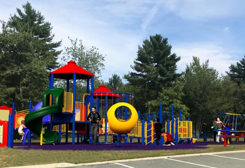 Preliminary proposed design of park. Contributed by Queens universally designed play park committee