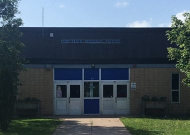 The exterior of Port Elgin Regional School in daytime.
