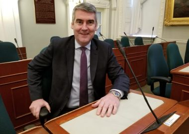 A photo of Premier Stephen McNeil in the legislature
