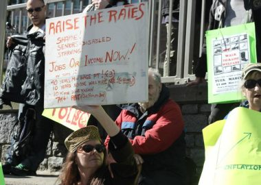 Downtown Eastside Vancouver protest to raise social and disability assistance rates in B.C.