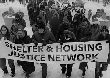 The network released its 60-page document this month, and addressed it to Mayor John Tory and the city wards. This photo was taken prior to the COVID-19 lockdown in March 2020. Photo courtesy of the Shelter and Housing Network Facebook page.