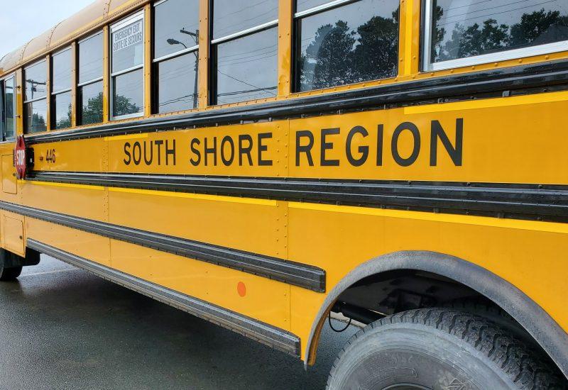 Parked school bus
