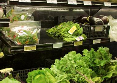 Fresh produce in the Gibsons' Public Market. Photo credit: Flickr – Rebecca Bollwitt