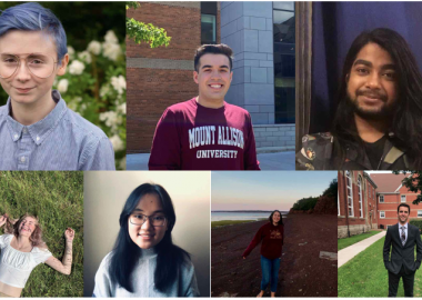 Seven of the nine candidates for MASU council, Fall 2020. Photos contributed.