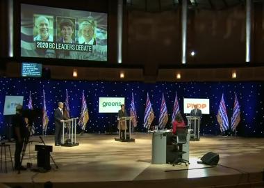BC leaders debate - Screenshot