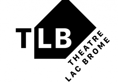 Black and white logo for Theatre Lac Brome.