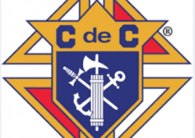 The crest of the Knights of Columbus.
