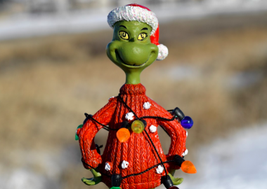 A model toy of the Grinch who stole Christmas.