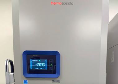 The ultra-low freezer at Wellington-Dufferin-Guelph Public Health location in Guelph, that stores the Pfizer COVID-19 vaccine.