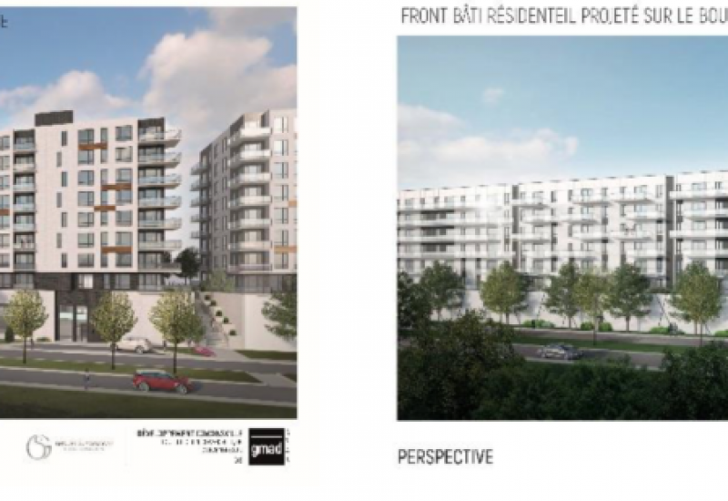 Digital images of the proposed buildings for the downtown project in Cowansville