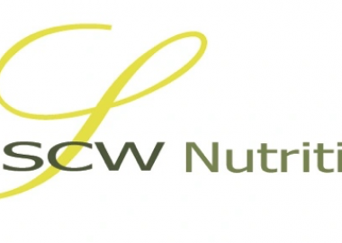 The official green cursive logo for SCW nutrition.