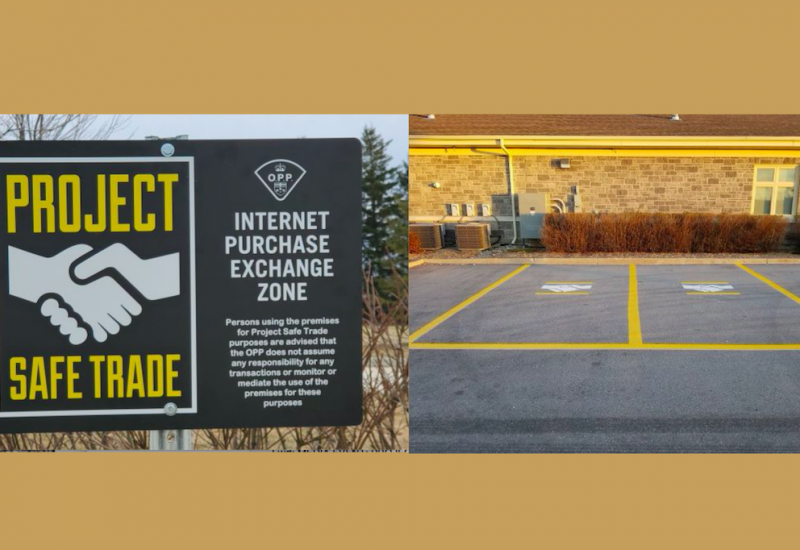 The Wellington County OPP are inviting members of the public to use their OPP detachment parking lots to facilitate buy and sell transactions at designated community safe zone parking spaces.