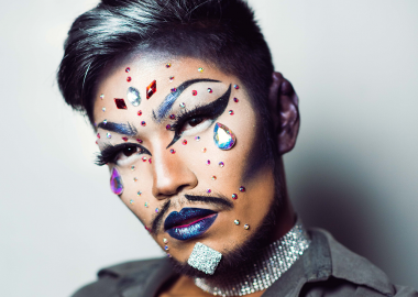 A close up headshot of Shay Dior, House Mother of the Vancouver Asian drag family House of Rice