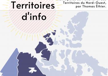Le logo de l'émission Territoires d'info, par le journaliste IJL Thomas Ethier.