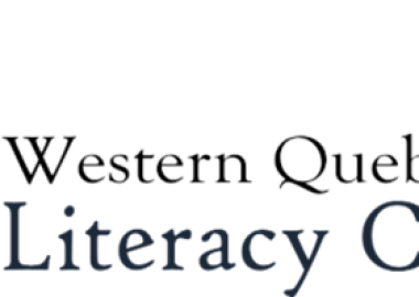 The logo of the Western Quebec Literacy Council, featuring an open book that looks like a rising sun.