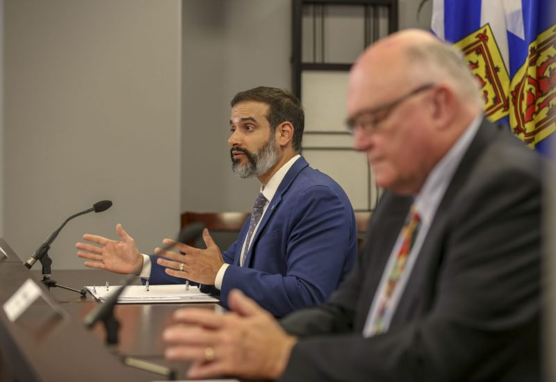 Education Minister Zach Churchill announces back to school protocols
