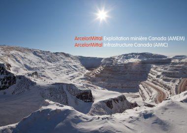 Montagnes du Mont-Wright avec la présentation dArcelorMittal