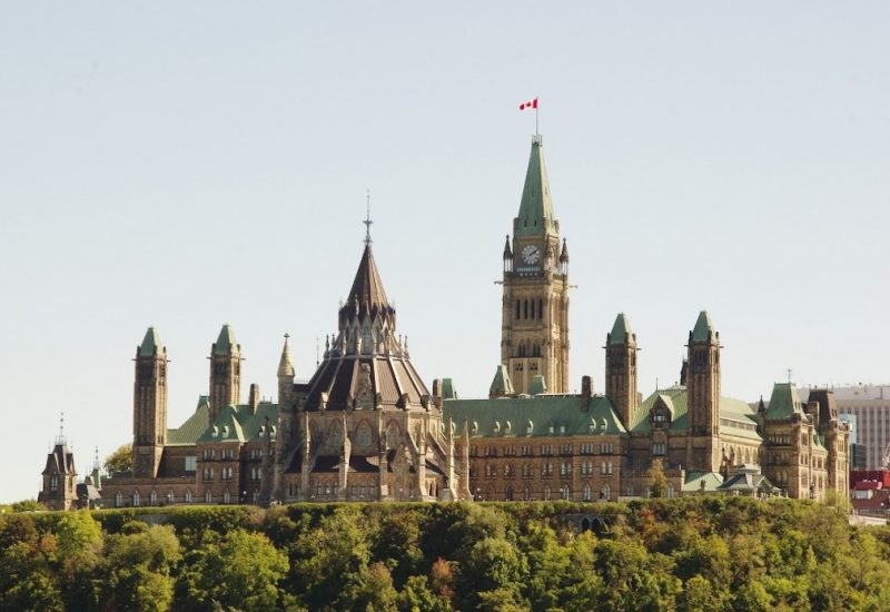 The parliment buildings in Ottawa