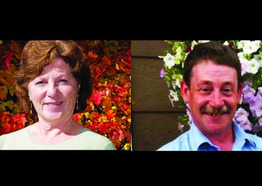 Submitted photos of the two mayoral candidates in the Smithers by-election, Atrill and Bramsleven (Left to right).