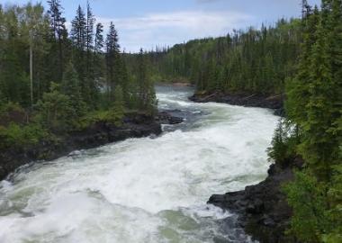 Cheslatta Falls, on the Nechako River. Source: UNBC