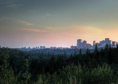 La ville d'Edmonton vu de loin