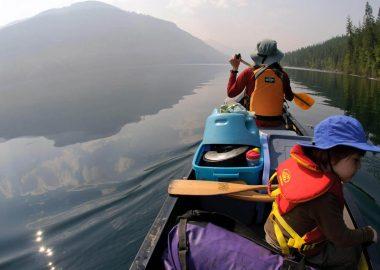 Paddlers on a lake