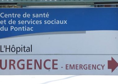 The sign at the Pontiac Community Hospital