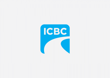 Blue and white ICBC logo with the letters I C B C