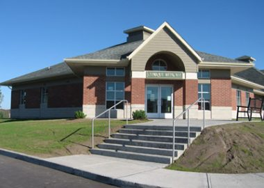 Picture of the Knowlton Community Centre that also houses the Knowlton clinic