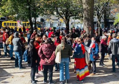 Marche des femmes dans le cadre de la journée internationale pour l'élimination de la pauvreté.( Photo: Paul Robitaille)