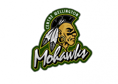 The yellow and green Centre Wellington Mohawks team logo.