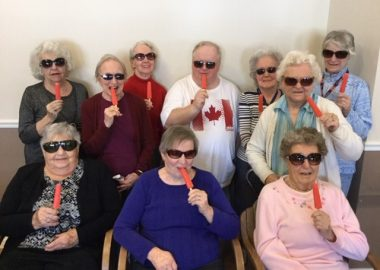 Residents at Birmingham Retirement Community beating the heat this summer with their sunglasses and popsicles!