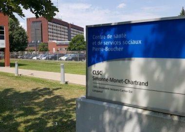 Enseigne d'un établissement de santé sur la Rive-Sud de Montréal