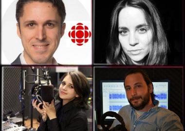 Les journalistes Mélinda Trochu, Adrien Blanc, Marina Van Wittenberghe et François Macone reviennent sur l'actualité qui a fait 2020 sur les ondes du 107.9 FM. Photo : Radio Victoria.