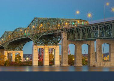 Le pont Champlain entre Brossard et l'Île des Soeurs