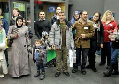Syrian refugees arrive in Prince George. Image from google.
