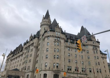 Chateau Laurier is seen on a cloudy day in Ottawa.